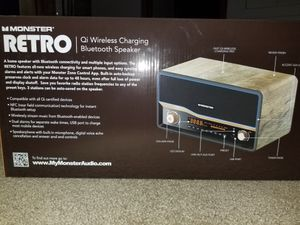 Brand New Bluetooth retro radio with fast wireless charging for Sale in Lyon Charter Township, MI