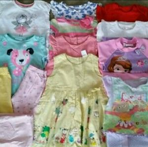 25 Piece Baby Girl Clothes Bundle Sizes Vary for Sale in Greensboro, NC