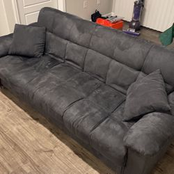 Foldable Dark Grey Couch for Sale in McKinney,  TX