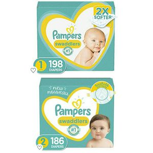 Pampers Bundle. Size 1 & 2 Diapers. for Sale in Fresno, CA