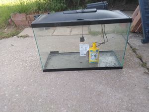 30 gal fish tank with filter, led light and water purifier for Sale in Oklahoma City, OK