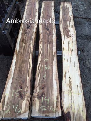 Ambrosia maple live edge slabs for Sale in Elmira, NY