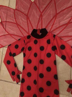 HALLOWEEN COSTUME: GIRLS LADYBUG JUMPSUIT SIZE6/8 T for Sale in Las Vegas, NV