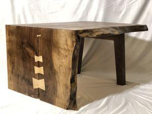 Live edge/natural edge walnut waterfall mid century modern coffee table for Sale in Everett, WA