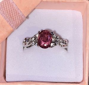 Women's Silver Filled Rose & White Sapphire Ring Size 7 for Sale in San Antonio, TX