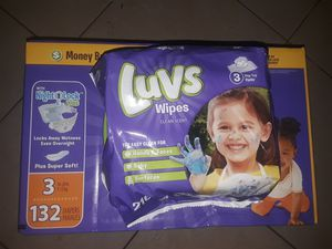 Size 3 Luvs ultra leakguards with wipes for Sale in Savannah, GA