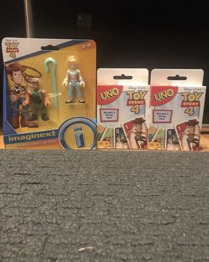 Toy Story 4 Uno and Toy Story 4 Figures for Sale in Danbury, CT