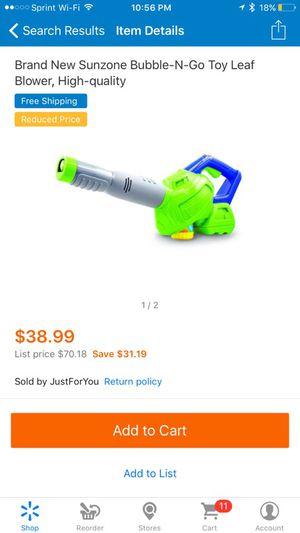 Kids bubble-N-go leaf blower for Sale in Plant City, FL