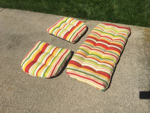 2 sided patio furniture cushions for Sale in Medina, OH