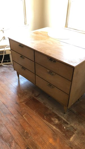 Retro 2 large dressers 1 smaller dresser and corner desk for Sale in Homestead, PA