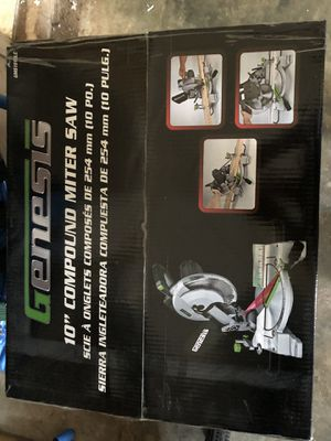 Genesis compound miter saw (new in box) for Sale in Prattville, AL