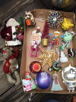 22 quality Christmas ornaments Also lights tree topper and very nice nutcracker for Sale in Winter Park, FL