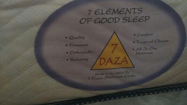Black Bedframe ( 7 DAZA Mattress, Box Spring or foundation)