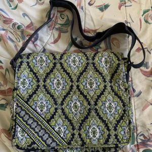 RETIRED Vera Bradley Cambridge Messenger Bag Green Blue EXCELLENT CONDITION for Sale in Centreville, VA