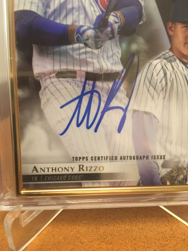 2018 ANTHONY RIZZO AUTOGRAPH / BEST OFFER