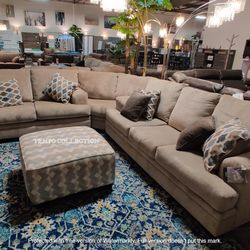 NEW, LARGE SOFA, WEDGE AND LOVESEAT SECTIONAL. for Sale in Santa Ana,  CA