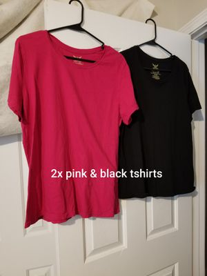 Size 2x pink & black tshirts (2 for $4) for Sale in Murfreesboro, TN