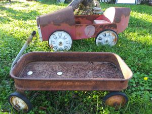 Antique pedal car and antique Radio Flyer for Sale in Manvel, TX
