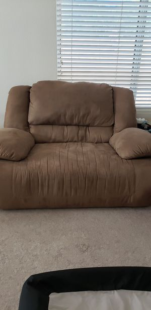 Full and half couch - tan for Sale in Phoenix, AZ
