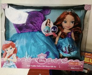 Ariel Toddler Doll & Girl Dress 👗 for Sale in Auburn, WA
