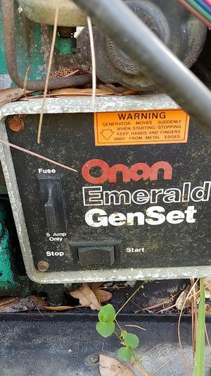 Onan emerald 1 genset for camper for Sale in DeLand, FL