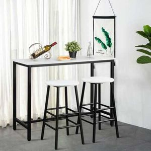 3 Piece Pub Table and Stools Kitchen Dining Set-Black & White B593-HW65399WH for Sale in El Monte, CA