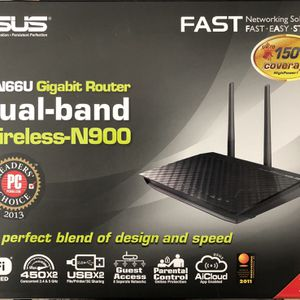 ASUS RT-N66U Gigabit Router Wireless N-900 for Sale in Chula Vista, CA