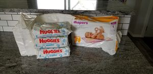 Huggies wipes and size 1 diapers for Sale in Tumwater, WA