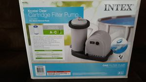INTEX Krystal clear 1,500 GPH cartridge filter pump *NEW* for Sale in San Bernardino, CA