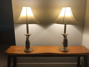 Set 2 table lamps for Sale in Evansville, IN