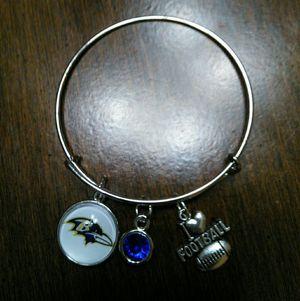 Baltimore Ravens wire Charm bracelet for Sale in Nashville, TN
