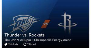 Thunder v. Rockets for Sale in Oklahoma City, OK