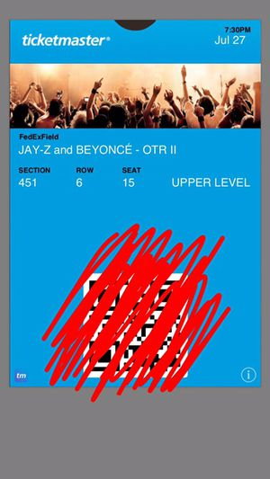 Beyonce ticket July 27th in Landover, MD for Sale in Fairfax, VA