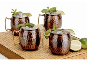 New Antique Hammered Copper Moscow Mule Mugs (Set of 4) for Sale in Centreville, VA