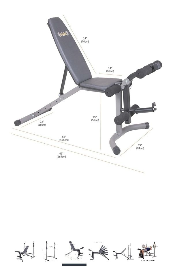 Combo weight bench including leg curl and ext