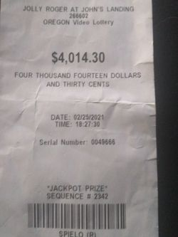 Winning Jackpot Prize for Sale in Milwaukie,  OR