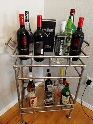 Excellent condition bar silver with glass for Sale in Modesto, CA