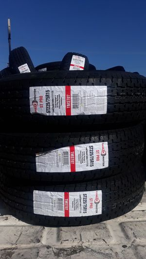 st225 75 r15 trailers tires 4new 10ply $260 for Sale in Chino, CA