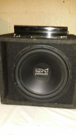 12 inch polk audio sub and 1400 watt amp for Sale in Pittsburgh, PA