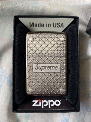 Supreme Diamond Plate Zippo Metal for Sale in La Habra, CA