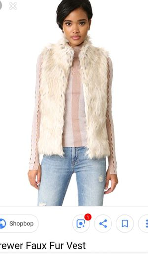 Faux fur cream vest size M-L for Sale in Daly City, CA