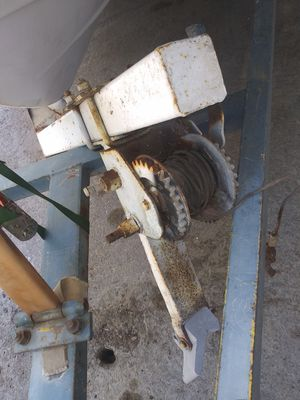 Boat trailer Bow stand w winch 25. Brand new Mercruiser prop 40. for Sale in Lake Arrowhead, CA