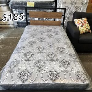 TWIN BED FRAME WITH COMBO MATTRESS for Sale in Paramount, CA
