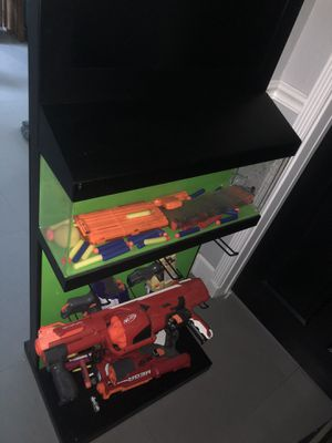Nerf gun collection and display case holder for Sale in Coconut Creek, FL