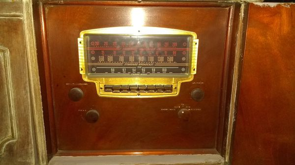 Radio and record player