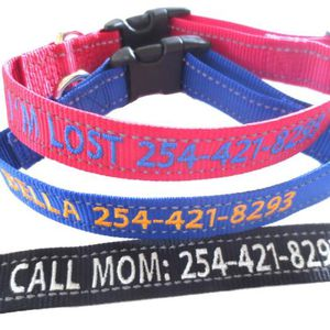 Personalize Dog Collar Reflective Custom Made Embroider With Name for Sale in Arlington Heights, IL
