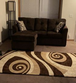 Brand New Chocolate Sectional with Chaise for Sale in Oak Park,  MI