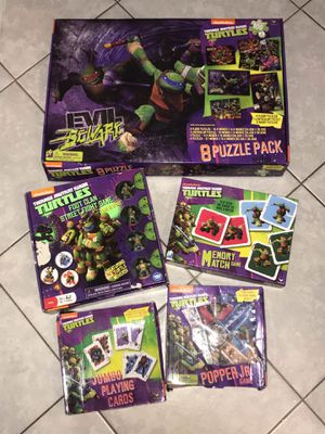 TMNT PUZZLES & GAMES for Sale in Tamps., MX