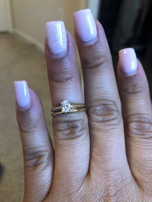 Beautiful diamond Engagement ring and wedding band set! for Sale in Wildomar, CA