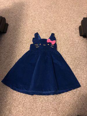 Hello Kitty toddler girl 3t size 3 velveteen blue jumper dress for Sale in Seminole, FL